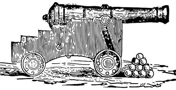 Cannon Gun Base Cannon Balls Mount Barrel Shoot Sp