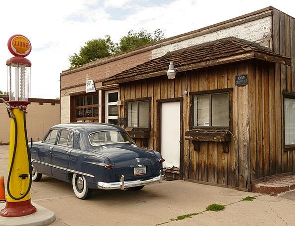 Petrol Stations Car Oldtimer Auto Refuel Refill Ga