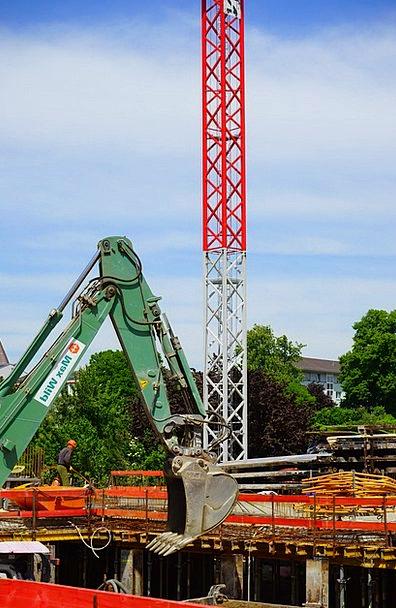 Site Place Diggers Baukran Excavators Crane Hoist