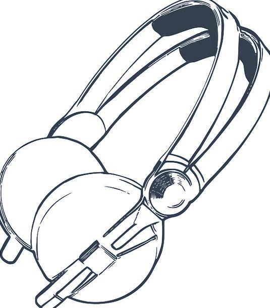Headphones Phones Haggard Listening Attending Draw