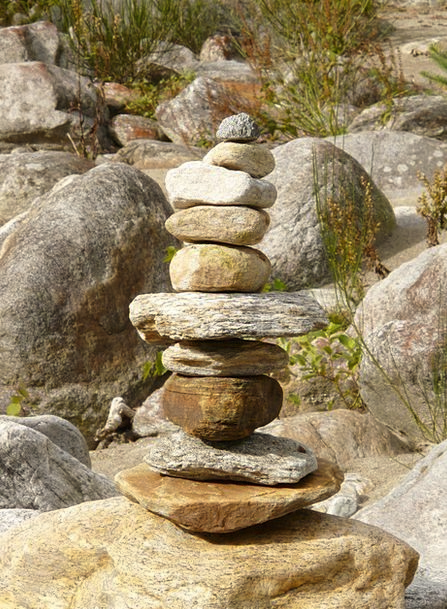 Cairn Landmark Pebble Rock Pillar Stone Tower Barb