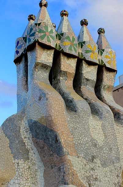Mosaic Medley Buildings Architecture Barcelona Cas