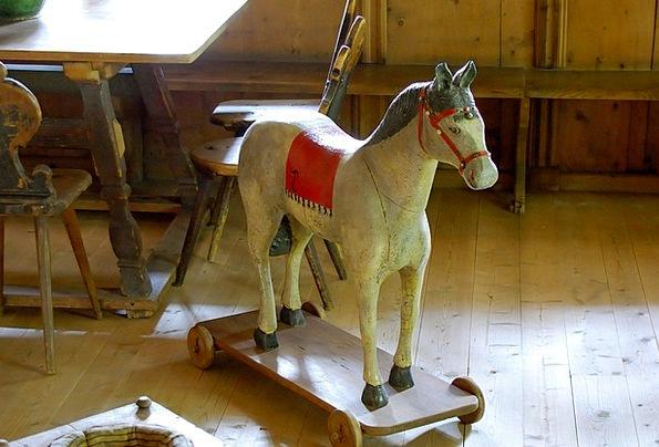 Wooden Horse Farm Old Ancient Farmhouse Sun Toys C