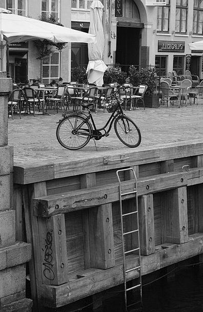 Bike Motorbike Quay Copenhagen Wharf