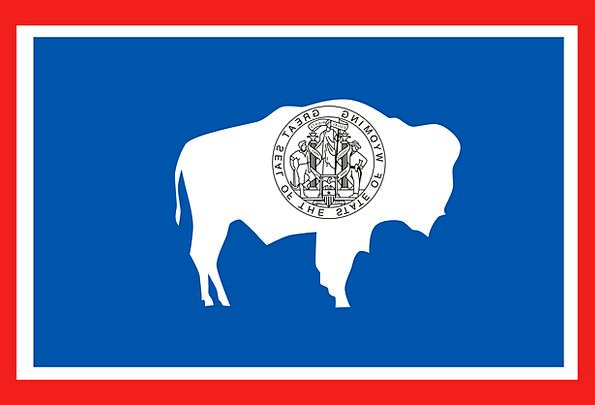 Flag Standard State National Wyoming Usa Symbol Si