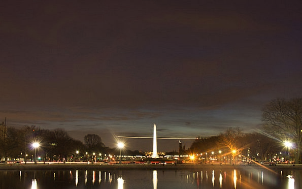 Washington Dc Monuments Nightly Places Evening Twi