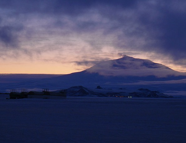 Mount Base Ross Erebus Island Isle Ice Shelf Winte