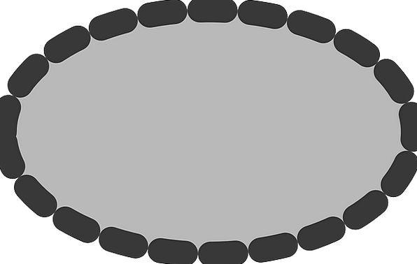 Ellipse Elliptical Dotted Scattered Oval Grey Old