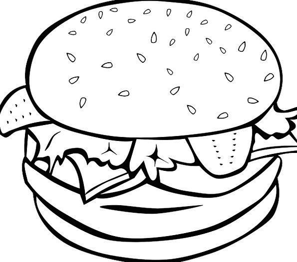 Hamburger Drink Food Sandwich Burger Sesame Bread