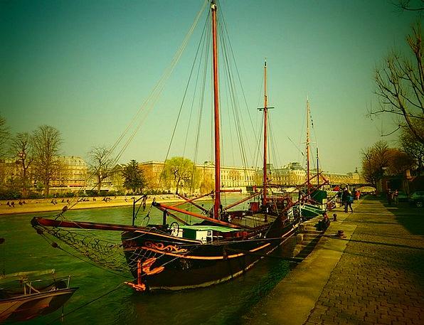 Its His Dock Paris Pier River Stream Ship Sailing
