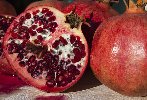 Pomegranate Drink Bloodshot Food Fruit Ovary Red C