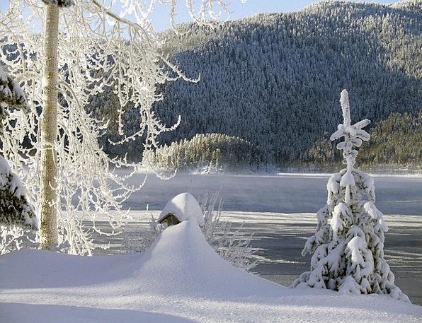 Sunny Sunlit Landscapes Season Nature Cold Emotion