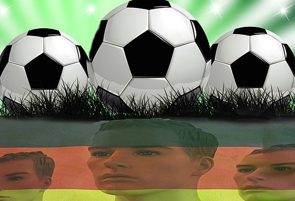 Football Ball Haste Flag Standard Rush Germany Wor