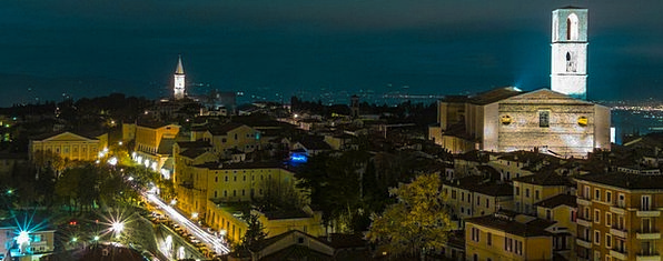 Perugia Landscapes Nightly Nature Italy Night Land