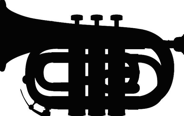 Trumpet Broadcast Outline Music Melody Silhouette
