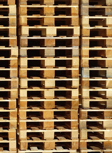 Wooden Pallets Stack Heap Pallets Palettstapel Tra