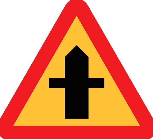 Crossroads Connection Roadsign Junction Road Sign