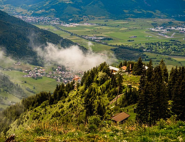 Corn Kogel Kaprun Austria Alm Clouds Nature Far Vi