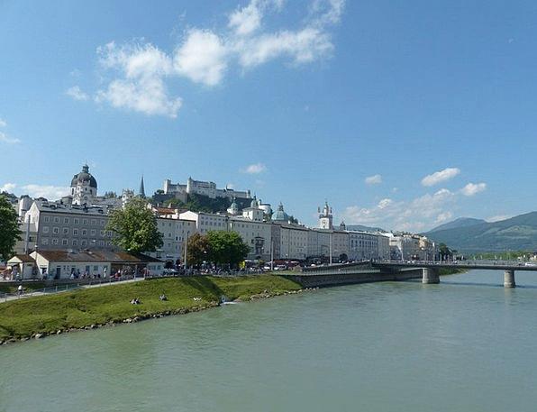 Salzburg Buildings Architecture Salzach Old Town M
