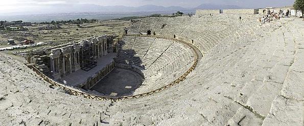 Teatro Turkey Hierapolis Ruins Shells Amphitheatre