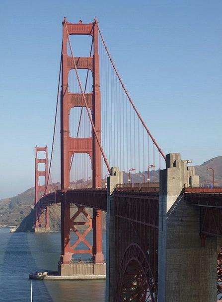 Golden Gate Bridge California San Francisco Usa Br