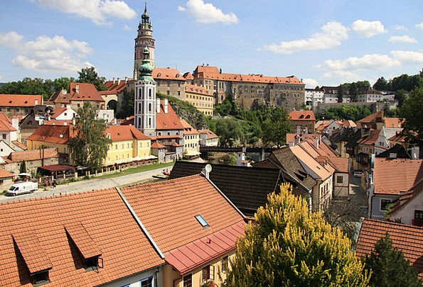 Krumlov Buildings Urban Architecture Historical Pa