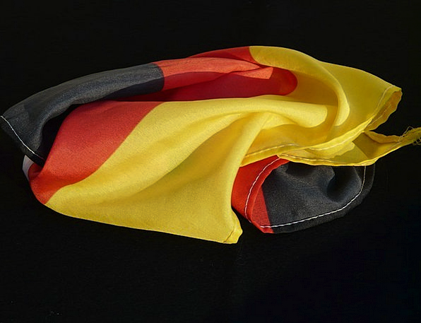 Flag Standard Creased Germany Rumpled Black Dark R