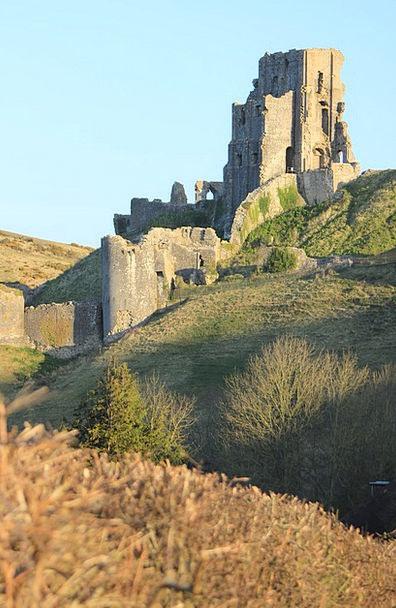 Corfe Buildings Fortress Architecture Dorset Castl