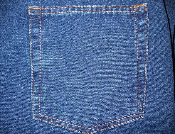 Jeans Back Pocket Rear Pocket Blue Jeans Pants Den