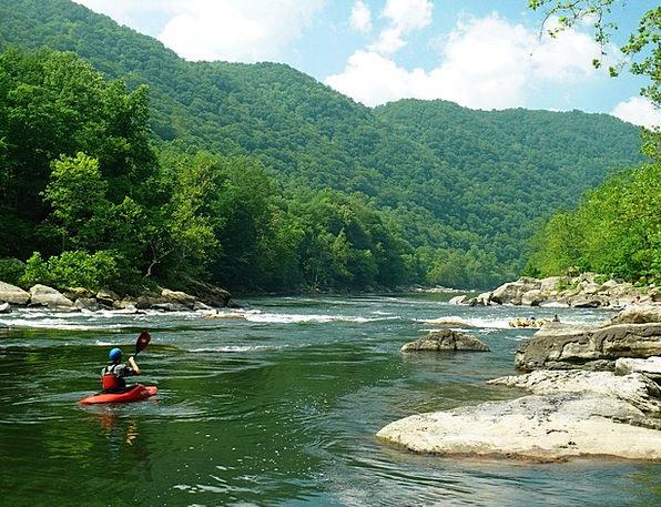 New River Landscapes Nature River Rafting West Vir