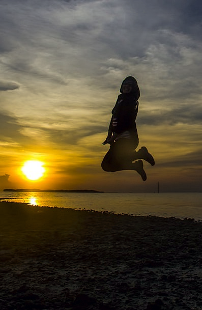 Sunset Sundown Vacation Hopping Travel Beach Seash