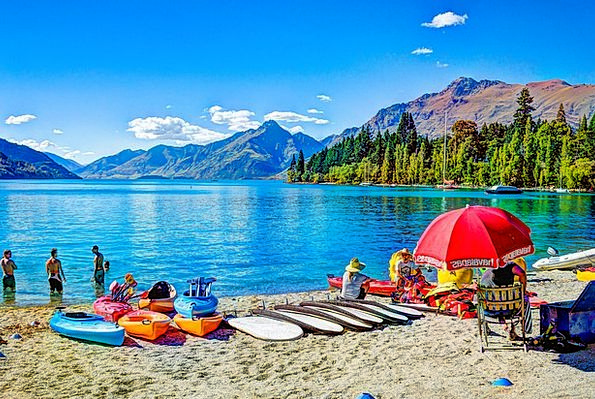 Queenstown Vacation Seashore Travel New Zealand Be
