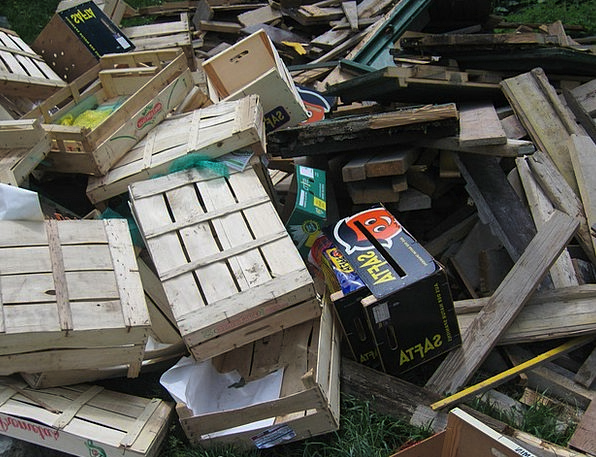 Waste Leftover Timber Wooden Boxes Wood Crates Jal