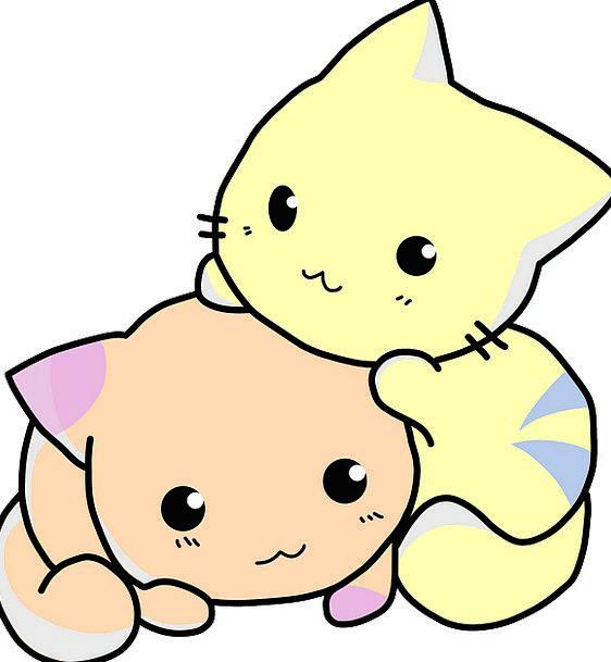 Kitties Funds Animation Snuggle Nestle Cartoon Cat