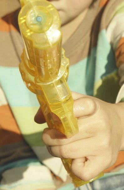 Water Gun Summer Straw-hat Children Toys Inject Va