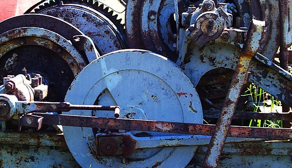 Gears Mechanisms Craft Industry Old Ancient Machin