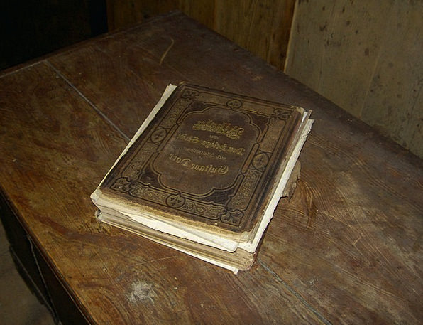 Old Ancient Book Volume Antique Bible Guestbook Ta