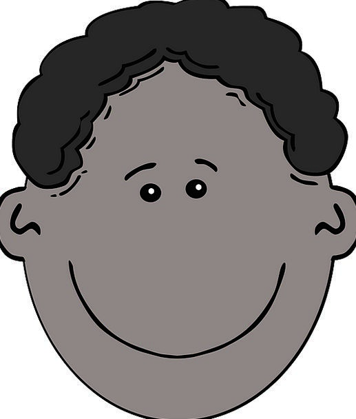 Black Dark Lad Face Expression Boy Race Curly Wavy