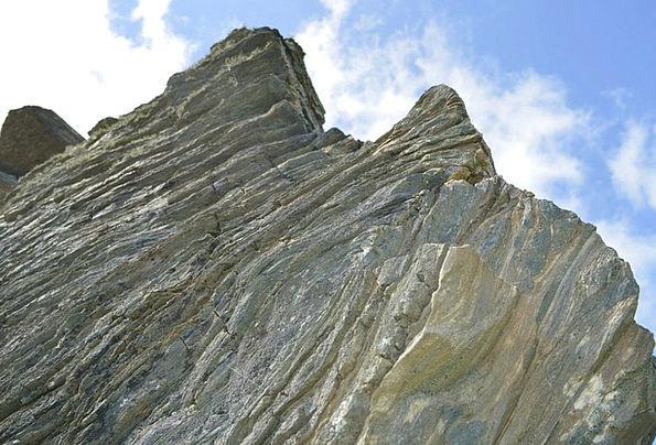 Cliff Precipice Rocks Pillars Cornwall Sediments R