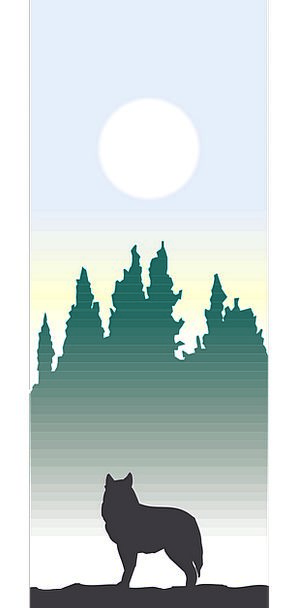 Silhouette Outline Plants Sun Trees Animal Physica