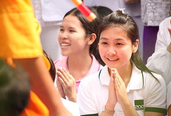 Thailand Lassie Pray Request Girl Bangkok Buddhist