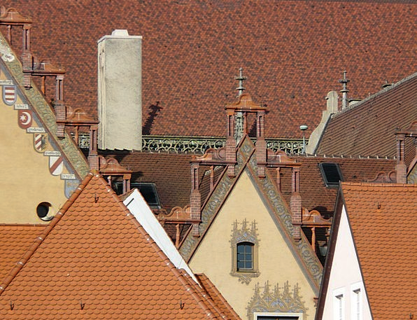 City Urban Buildings Structure Architecture Roofs