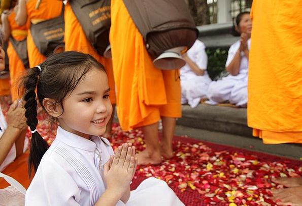 Thailand Lassie Buddhists Girl Asia Monk Friar Peo