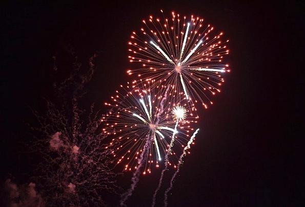 Fireworks Rockets Festivity New Year Celebration E