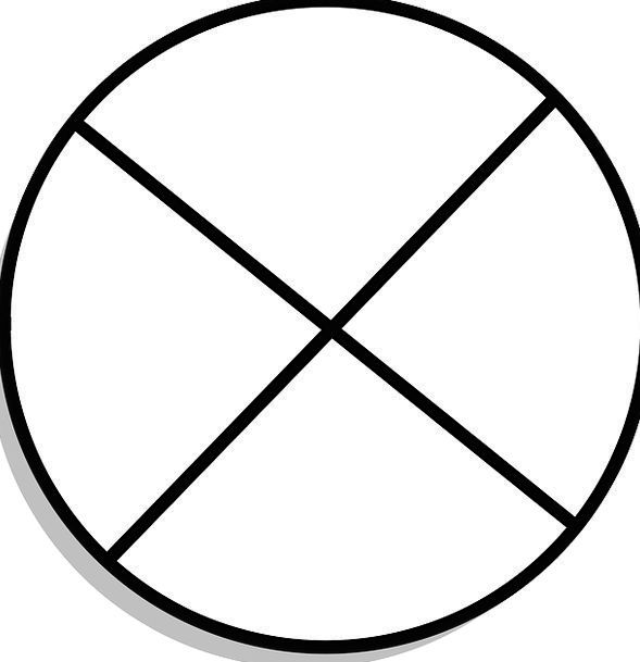 Circle Ring Form Quadrant Shape Four Free Vector G