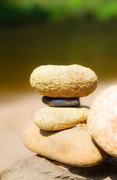 Stones Gravels Loaded Balance Equilibrium Stacked