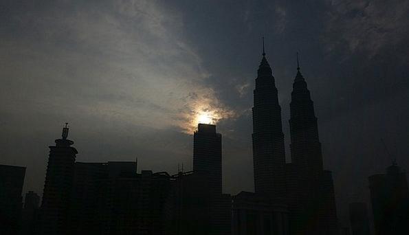 Malaysia Klcc Kuala Lumpur Silhouette Outline Dark