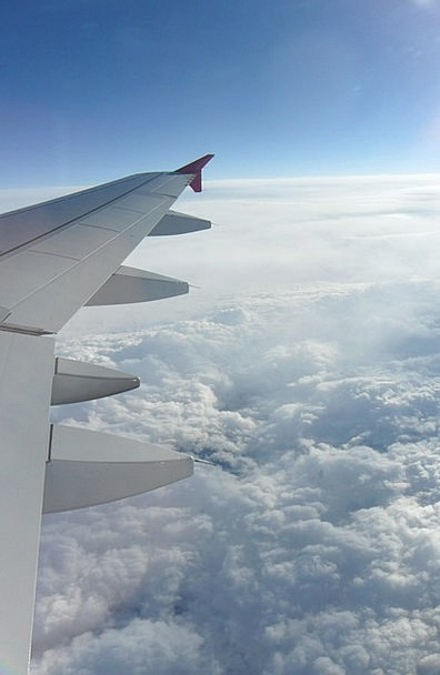 The Plane Landscapes Aeronautical Nature Skies Hea