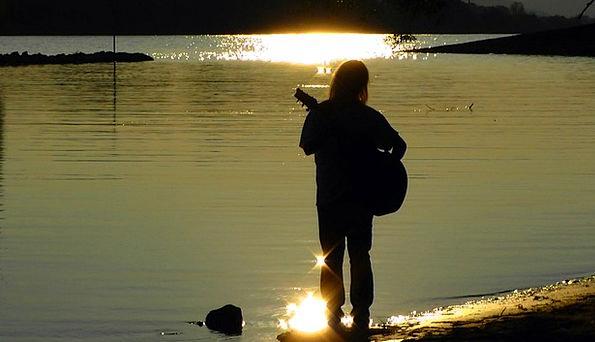 Musician Performer Musical Melodic Guitarist River
