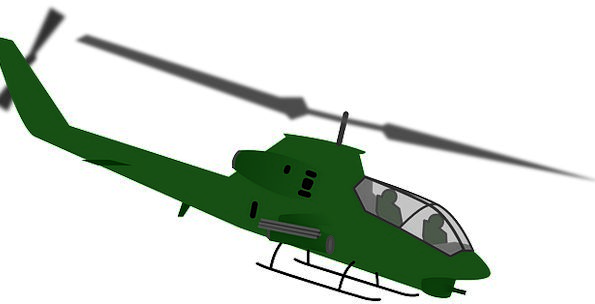 Chopper Grinder Airplane Military Armed Helicopter